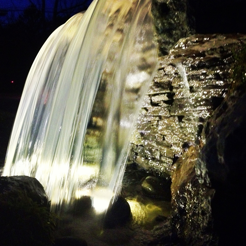 Why Add Led Underwater Lights And Low Voltage Landscape Lights To Your Pond Or Waterfall In