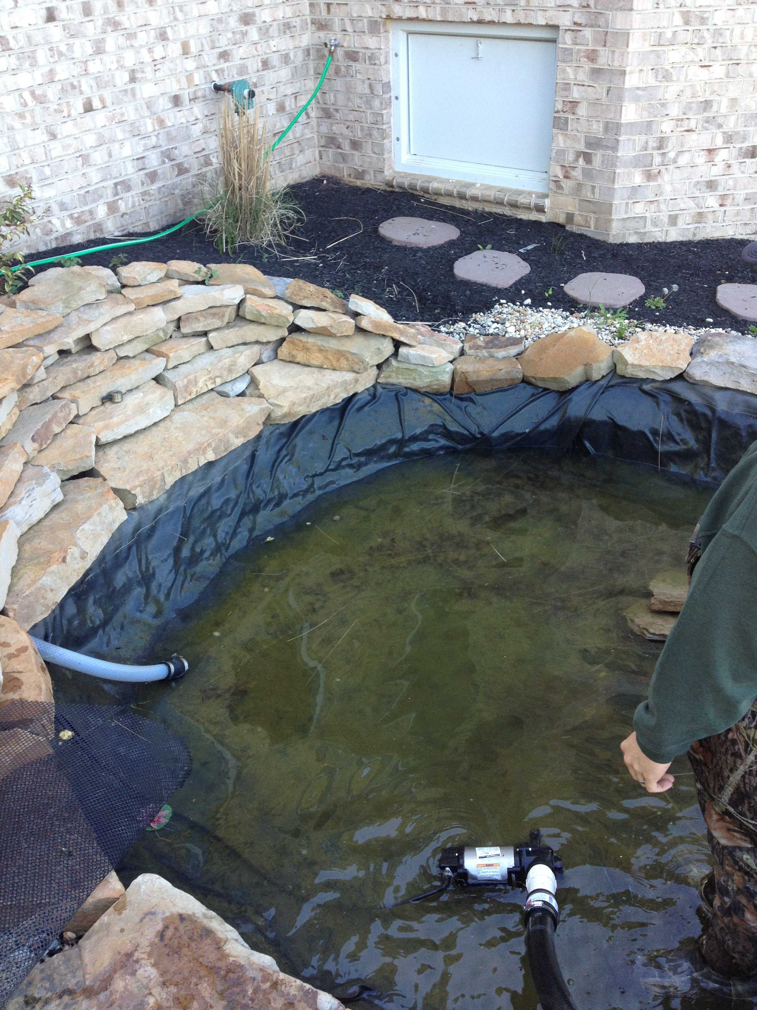 How do i find a leak in my pond baltimore maryland for Fish pond repair