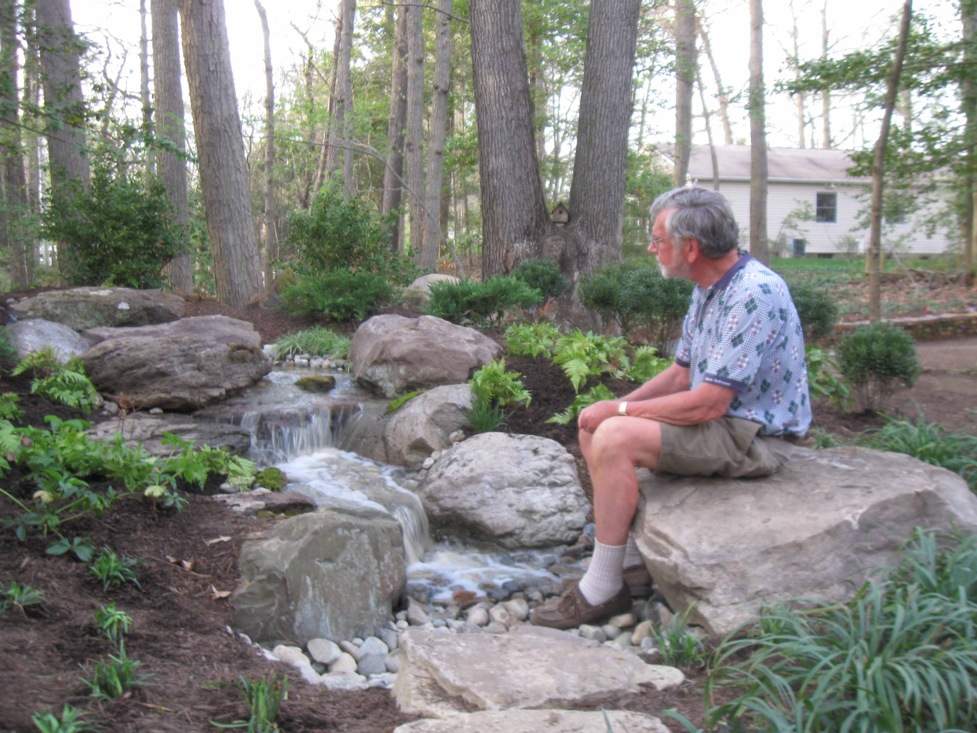 Pondless disappearing waterfalls baltimore maryland for Pond waterfall construction