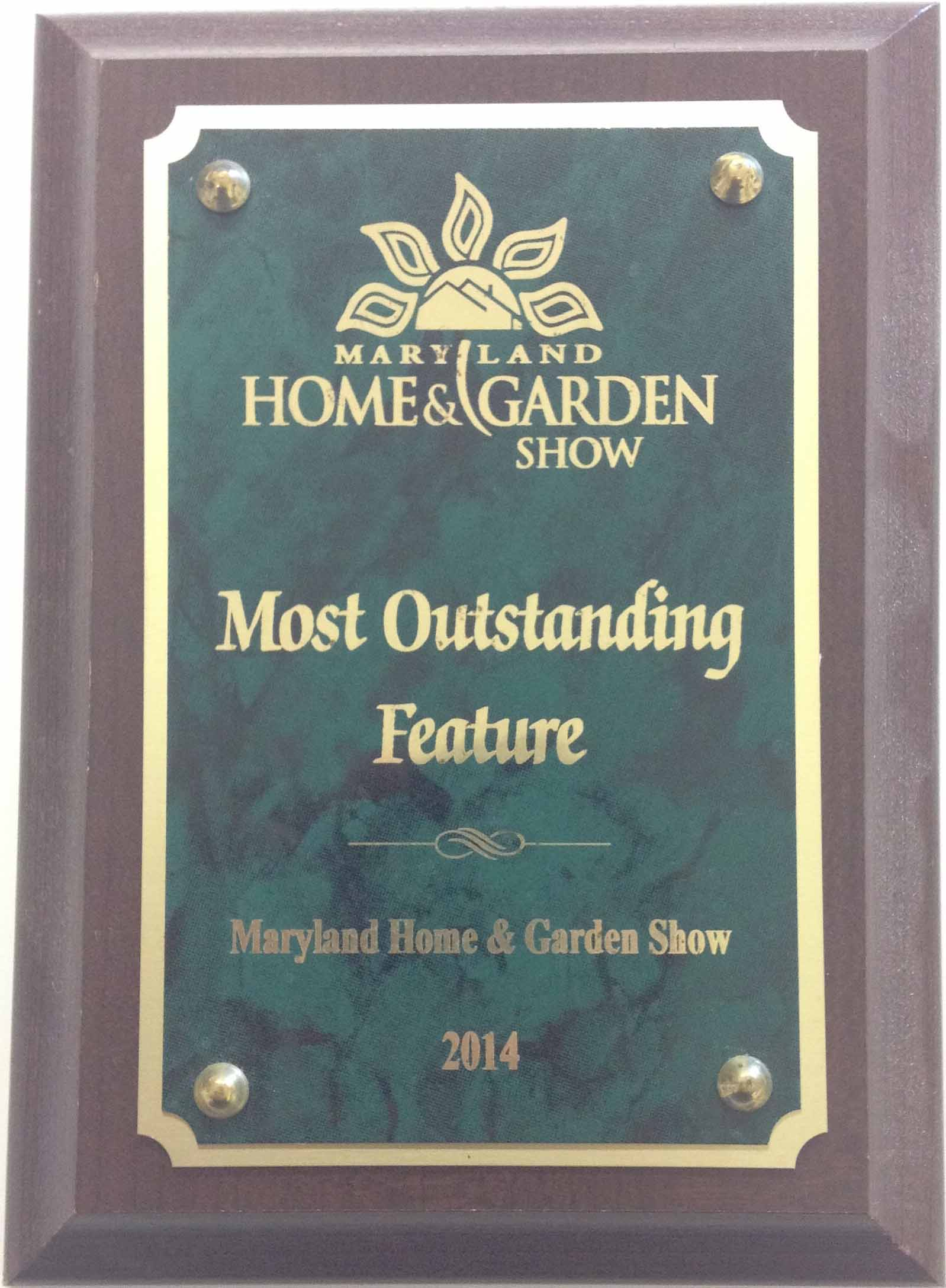 Award From Maryland Home And Garden Show