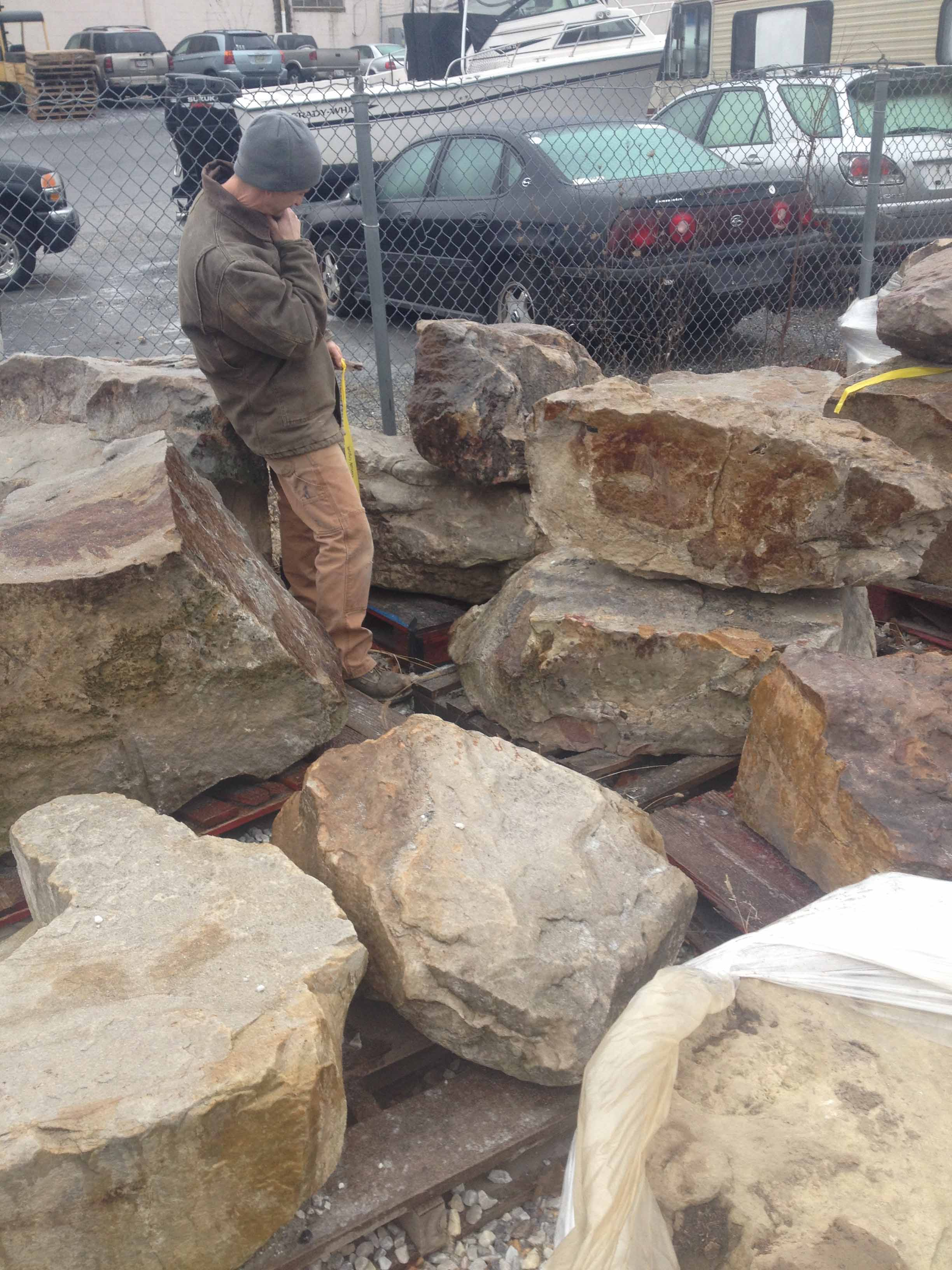 Selecting Stone For The Maryland Home And Garden Show In Cockeysville, MD